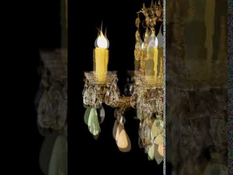 LightingForYou.com One Of A Kind Limoge Fragonard Medallion And Alabaster Chandelier