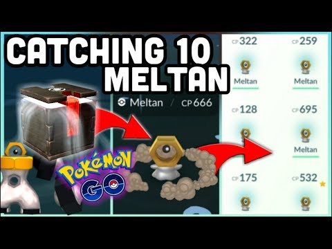 CATCHING 10 MELTAN USING MYSTERY BOX IN POKEMON GO | TRANSFERRING POKEMON TO LET'S GO thumbnail