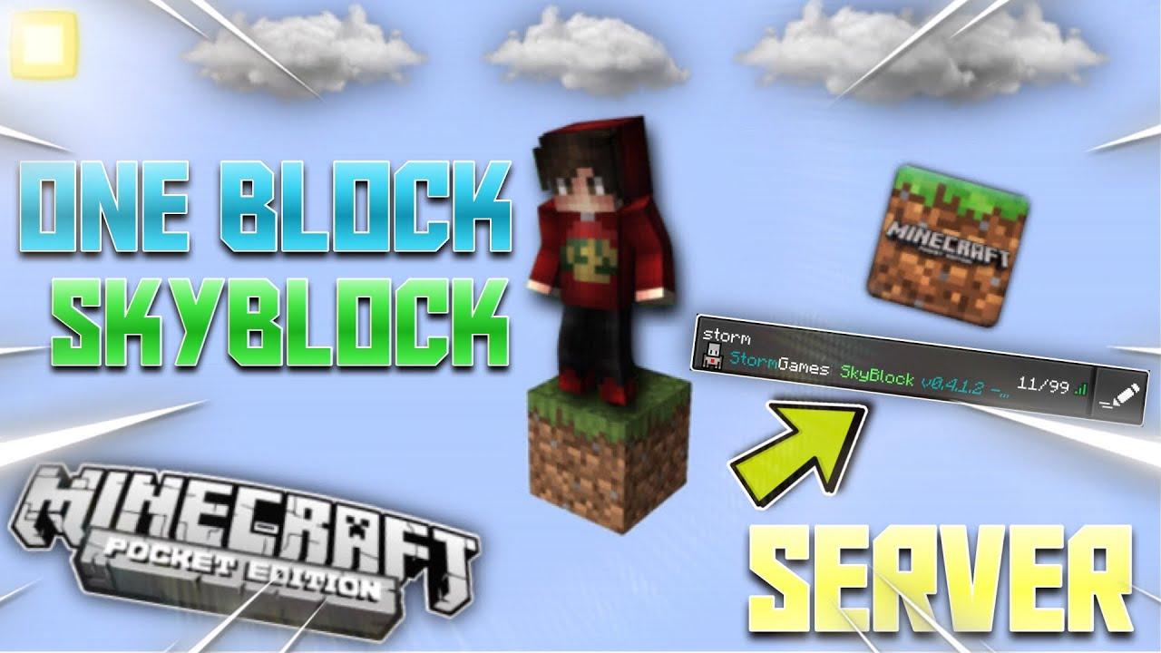 ONE BLOCK SKYBLOCK SERVER ( TEK BLOK ) MCPE Minecraft