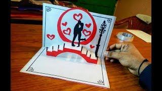 DIY 3D Couple  Pop up Card-Paper Crafts-Handmade Craft-diy valentine card