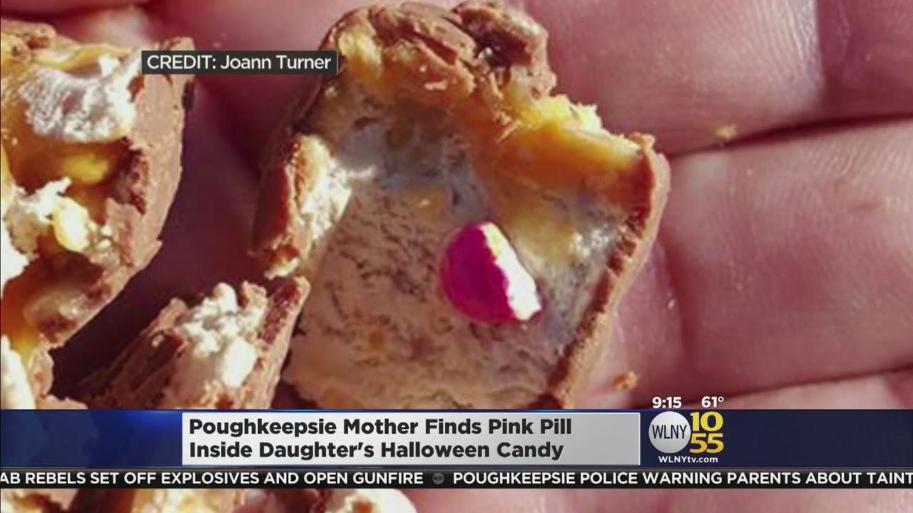 pills, needle found in halloween candy - youtube
