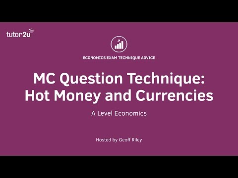 MCQ Revision Question: Hot Money and the Exchange Rate