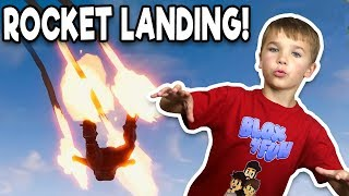 LANDING LIKE A ROCKET in FORTNITE BATTLE ROYALE!!!