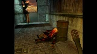 Half-Life 2 beta (leak) - d1_town_01 (Unused G-man sighting)