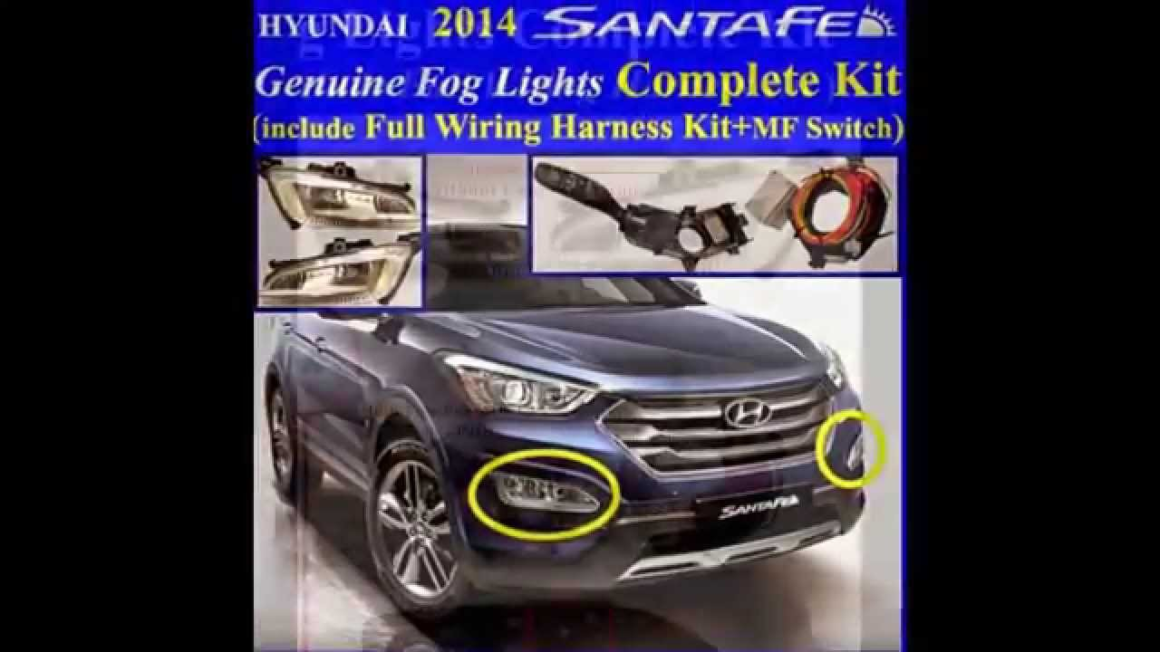Hyundai Sonata 2013  >> 2013 2014 2015 2016 HYUNDAI Santa Fe SPORT Fog Light Lamp Complete Kit,Wiring Harness+MF Switch ...
