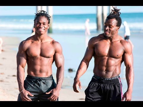 PT 2 African Beasts Alseny and Sekou @ Huntington Beach W/ Strength Project