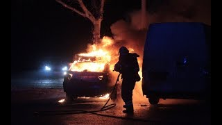 26.11.2019 - Ild i bil ved Albertslund