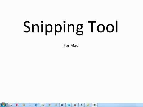 A Snipping Tool for Mac