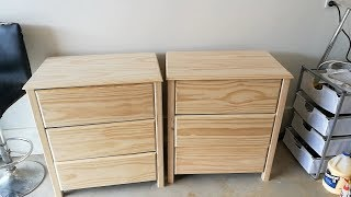 In this video I make one of by bed side table units with three drawers. This is my first time making drawers so I am very happy that