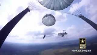 Raw Footage/Helmet Camera: U.S. Army Paratrooper Preforms a Training Jump