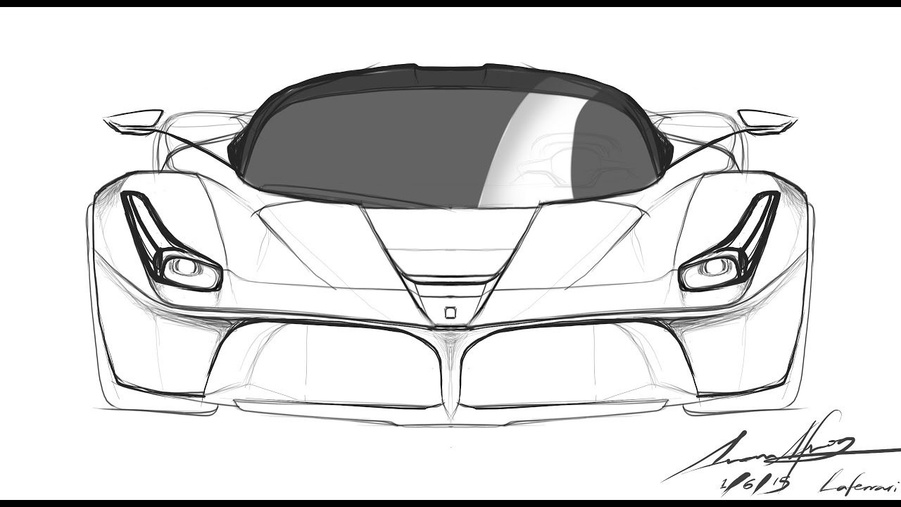 Outstanding Ferrari Car Sketch Pictures Best Image Cars Desej Us