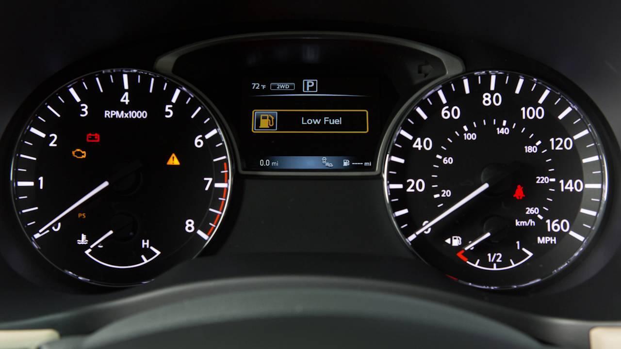 2017 Nissan Pathfinder Warning And Indicator Lights