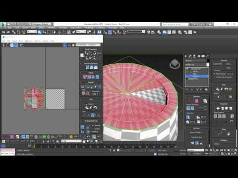 3Ds Max 2015 - Mapeando Barril #Assets for Games