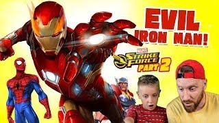 Evil Iron Man vs Team Spider-Man! Marvel Strike Force IOS Game Pt. 2