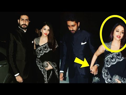 Caught |Aishwarya Rai Bachchan and Aishwarya Bachchan act to be happy couple just for camera*