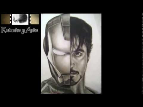 Dibujo - Iron Man - Los vengadores - The avengers - Retrato a Lápiz - Comic Marvel
