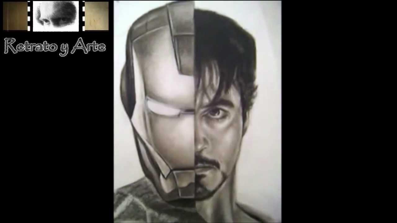 Dibujo Iron Man Los Vengadores The Avengers Retrato A Lápiz