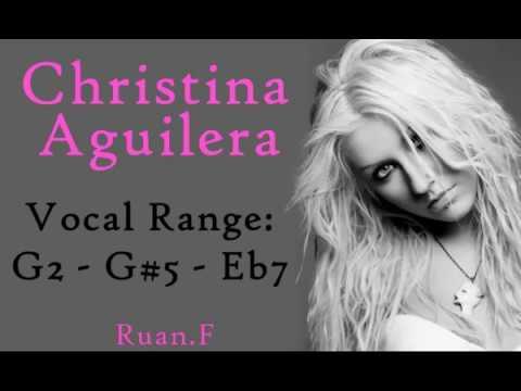 Christina Aguilera Vocal Range: G2 - G#5 - Eb7