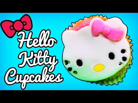 Hello Kitty Cupcakes | DIY Quick & Easy Recipes By HooplaKidz Recipes