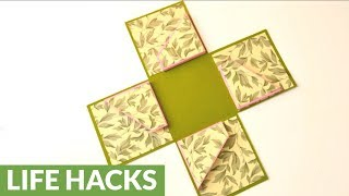 DIY crafts: How to make an exploding box card