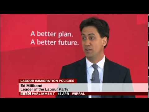 Ed Miliband speech on Labour Immigration Policy, Wirral, 18th April 2015, Pt 2