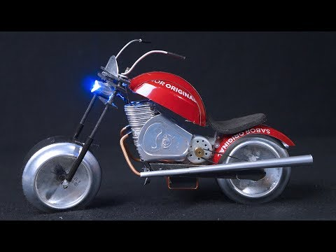 Como fazer uma Moto Elétrica incrível de latinhas de alumínio
