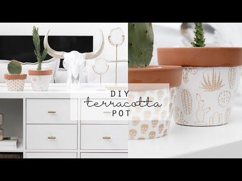 DIY Terracotta Pot Decorating | Quick & Easy Decor Idea