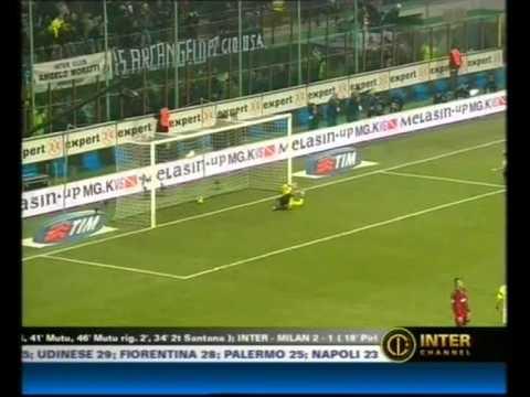 23 12 07 Inter Milan 2 1 Derby di Natale Pirlo,Cruz,Cambiasso commento Scarpini