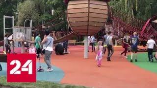 видео Бесшовное покрытие для детских площадок в Москве и области.