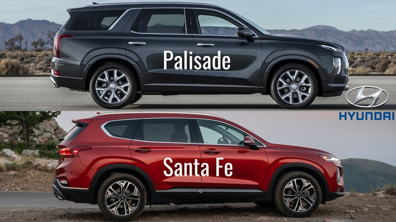 Hyundai Palisade vs Santa Fe - YouTube