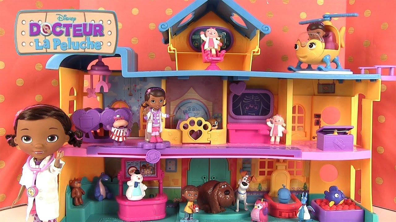 docteur la peluche jouets h pital et figurines toy hospital youtube. Black Bedroom Furniture Sets. Home Design Ideas