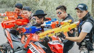 LTT Game Nerf War : Couple Winter Warriors SEAL X Nerf Guns Fight Criminal Group Rocket Pirate