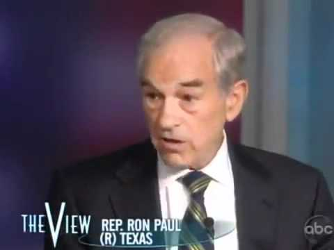 Ron Paul Rocks The View Whoopi Goldberg Frustrated When Audience Cheers Ron Paul.flv