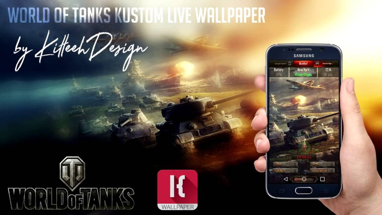 World Of Tanks Klwp Kustom Live Wallpaper Youtube
