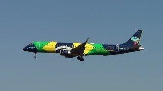 Vinte e nove lindos  Aviões pousando no Aeroporto de Confins