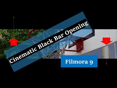 Adding Cinematic Black Bar Opening in Filmora 9