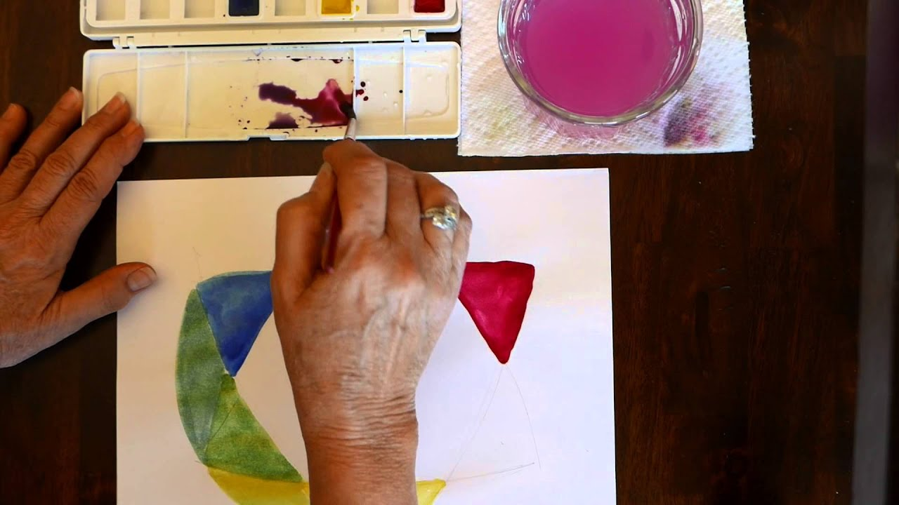 How To Make A Simple And Easy Watercolor Color Wheel