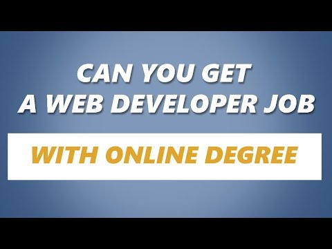 Can you get a Web Developer Job with an Online Degree