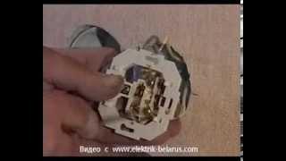Видеоурок № 6 по установке и подключению электрической и телефонной розетки!