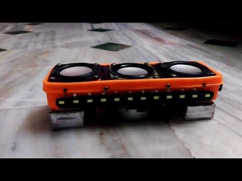 DIY Bluetooth speaker with LED lamp and music Rhythm LED lights..