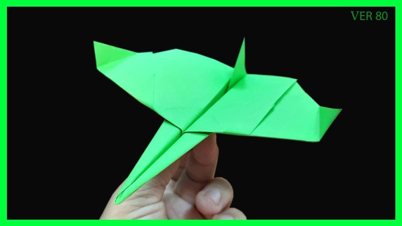 diy paper airplane boomerang ver 80 | boomerang plane king