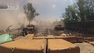 Операция Сирийской армии в Аль Кабуне  (пригород Дамаска) ч.1 2013г.