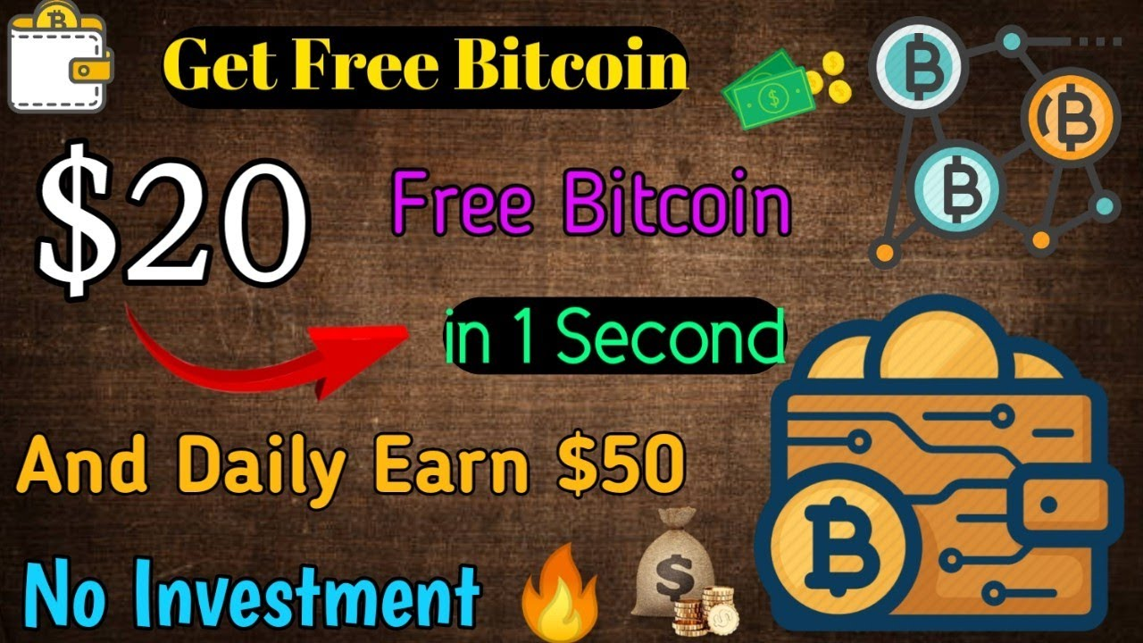 Earn $20 Bitcoin in 1 Second Free BTC | Work At home No investment New  launched Site