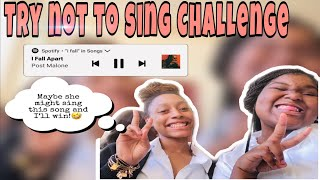TRY NOT TO SING CHALLENGE (TOTAL FAIL😭)