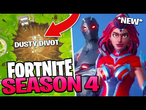 Fortnite Season 4 - Meteor HITS Dusty Depot, New Skins & Battle Pass!