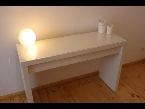 ikea malm frisiertisch schminktisch aufbau von gewusstwie youtube. Black Bedroom Furniture Sets. Home Design Ideas