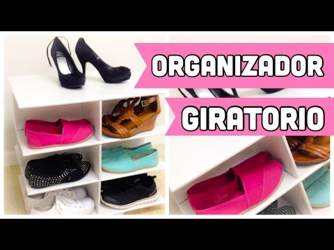 190eb764 ORGANIZADOR DE CARTON PARA ZAPATOS GIRATORIO - YouTube