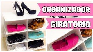organizador de carton para zapatos giratorio