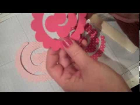 How To Make A Spiral Flower Youtube