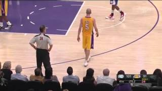 Lakers Point Guard Yells At Fan During Game
